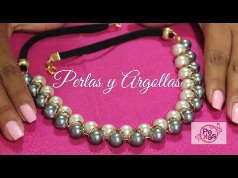 951b97b51696 DIY Jewelry   Como hacer un Collar de Perlas y Argollas   Pekas ...