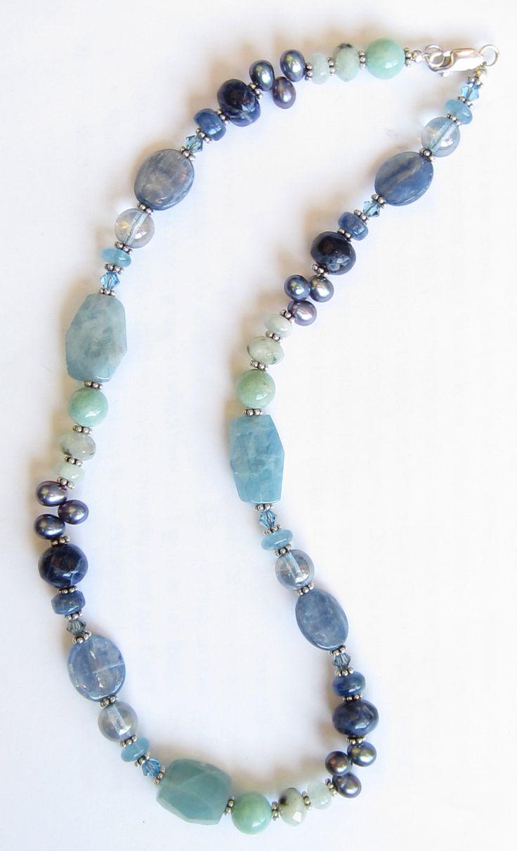 Diy Jewelry Mix Of Kyanite Aquamarine Lapis Amazonite