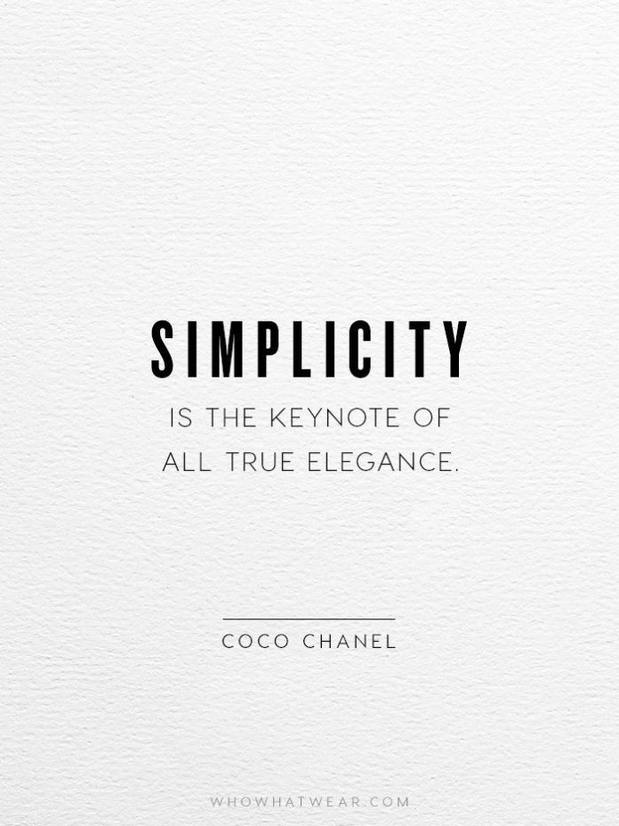 Quotes About Fashion Simplicity Is The Keynote Of All True Elegance Coco Chanel