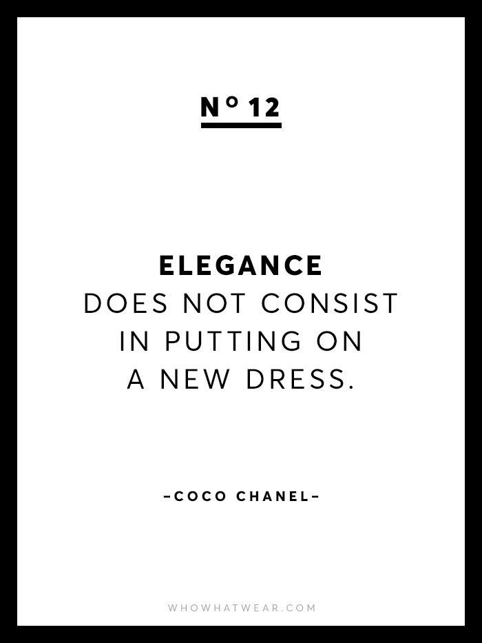 Quotes About Fashion 13 Rare Coco Chanel Quotes Via Who What Wear