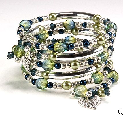 Diy Jewelry Tranquil Wishes Memory Wire Bracelet Supply