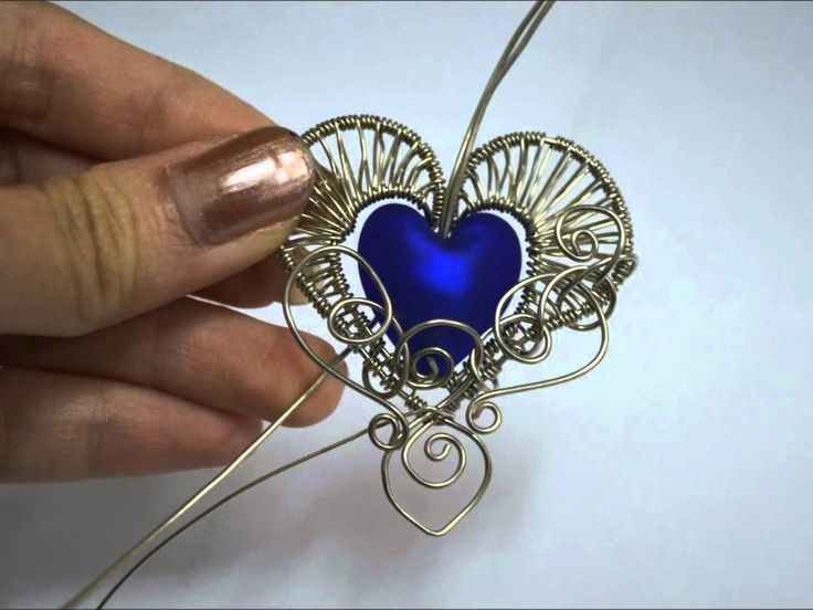 Diy metal jewelry gothic heart wire wrapped pendant time lapse diy metal jewelry aloadofball Image collections