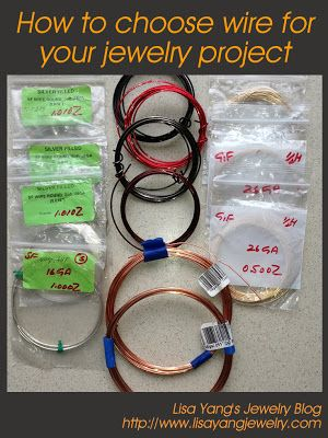 DIY Metal Jewelry : How to choose wire for your jewelry ...