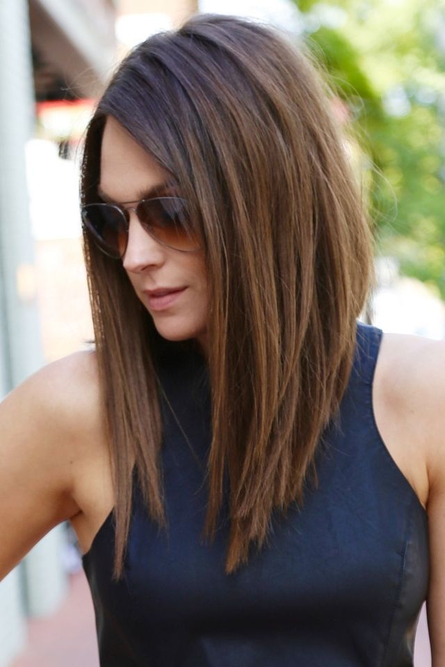 Shoulder Length Angled Haircuts Hair Color Ideas And Styles For 2018