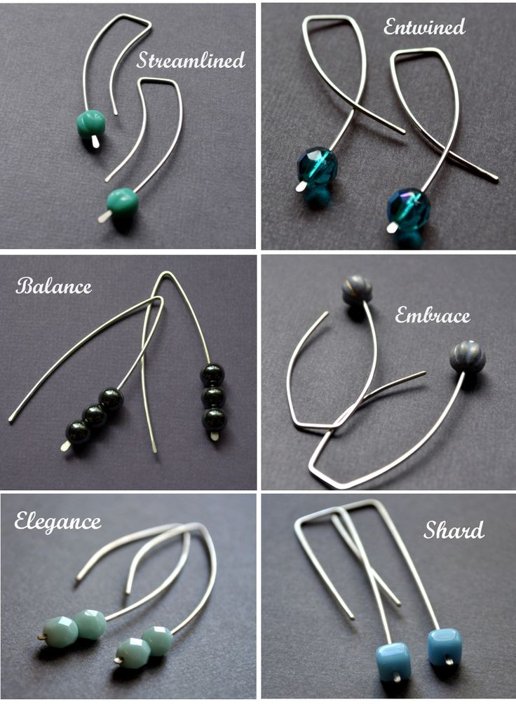 DIY Metal Jewelry : More easy earwires – combined with plannished ...