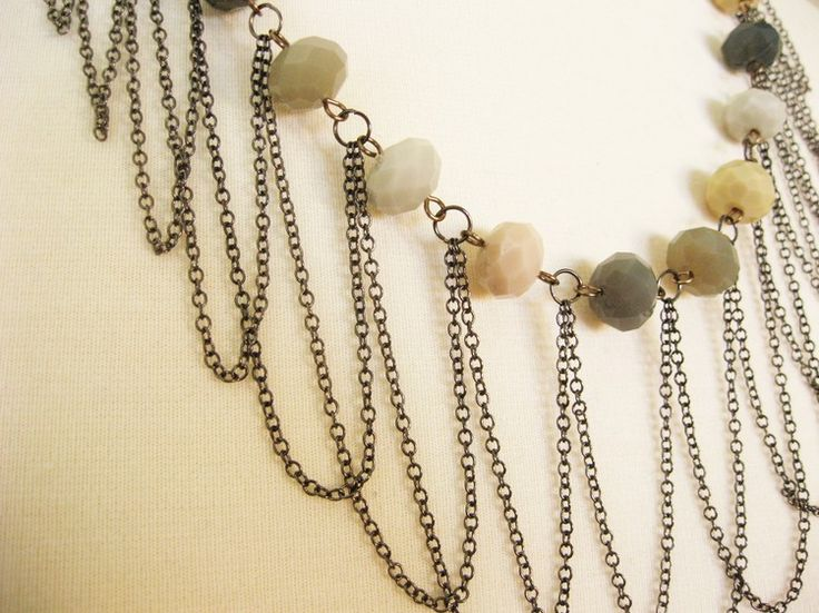DIY Metal Jewelry : How to Make a Draped Chain Necklace from Luxe ...