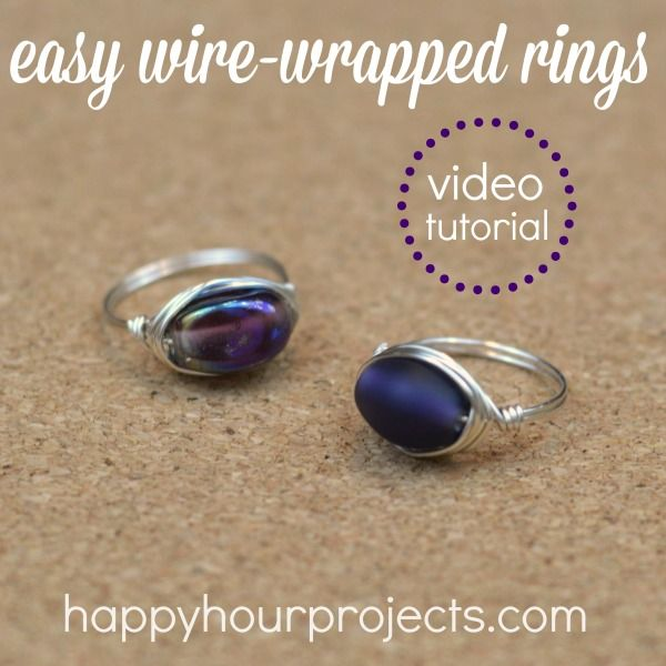 Diy Metal Jewelry Video Tutorial Easy Wire Wrapped Ring