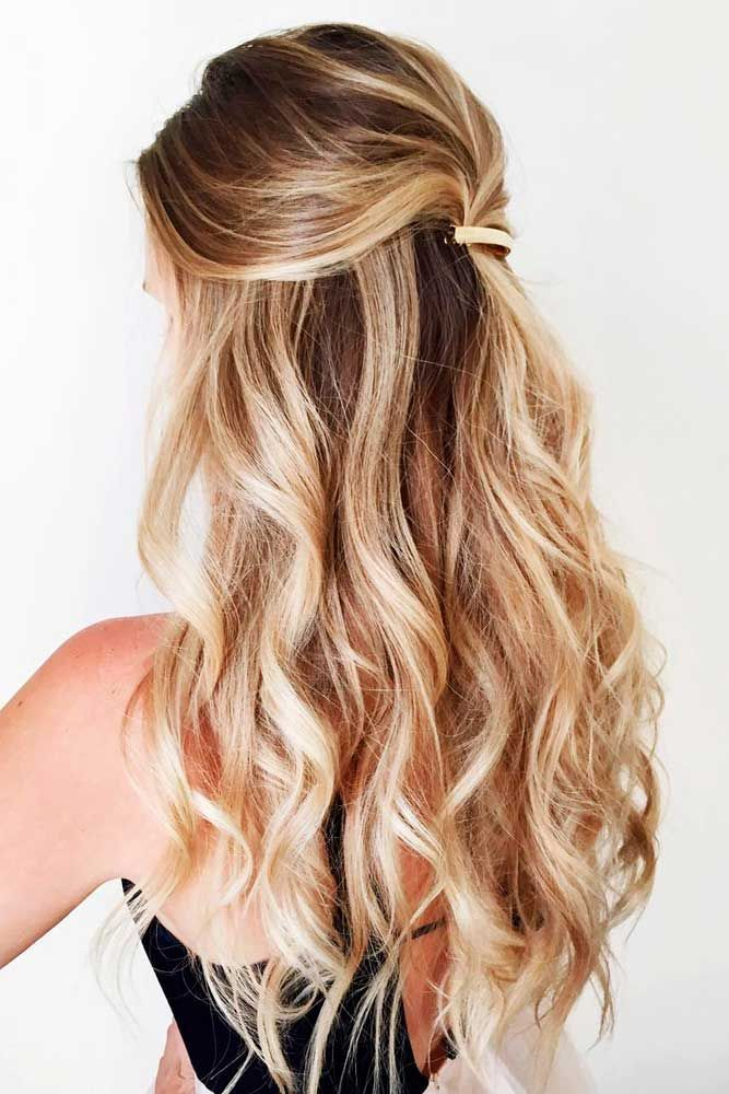 Best Hairstyles Haircuts For Women In 2017 2018 Long Wavy Half