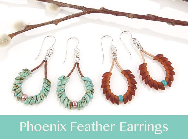 DIY Jewelry : Phoenix Feather Earrings- Easy – Beading Jewelry