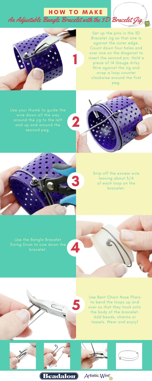DIY Metal Jewelry : Learn to make Bangle Bracelets with Artistic ...