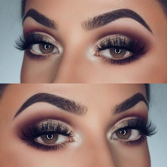 Eye Makeup Tutorials Glamorous Smokey Eye Makeup Idea For Brown