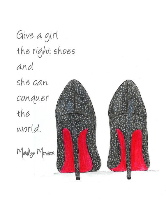 c64d353f43b Quotes About Fashion   Watercolor Louboutin Shoes Fashion ...