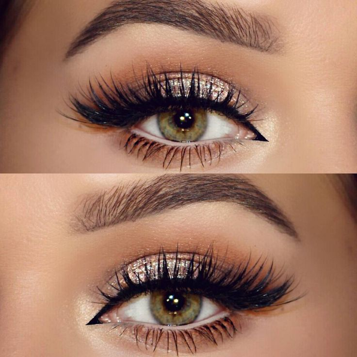 Eye Makeup Tutorials Neutral Champagne Glitter Softly Shaded