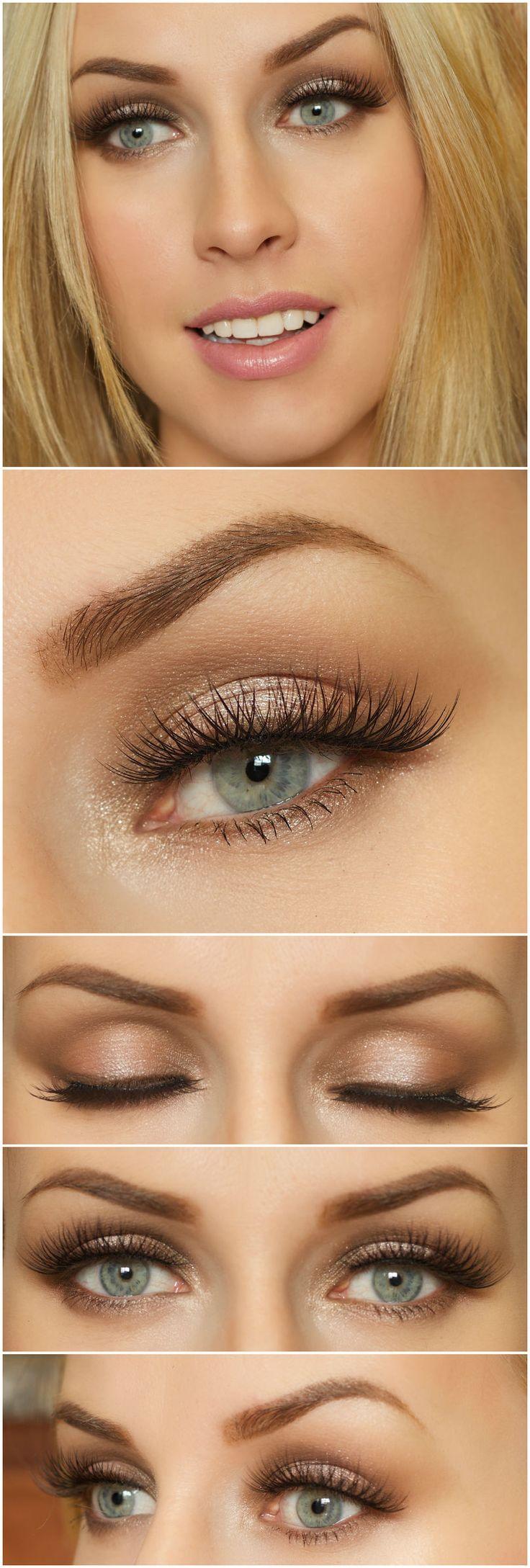 Makeup Tutorials For Blue Eyes Brown Hair  Saubhaya Makeup