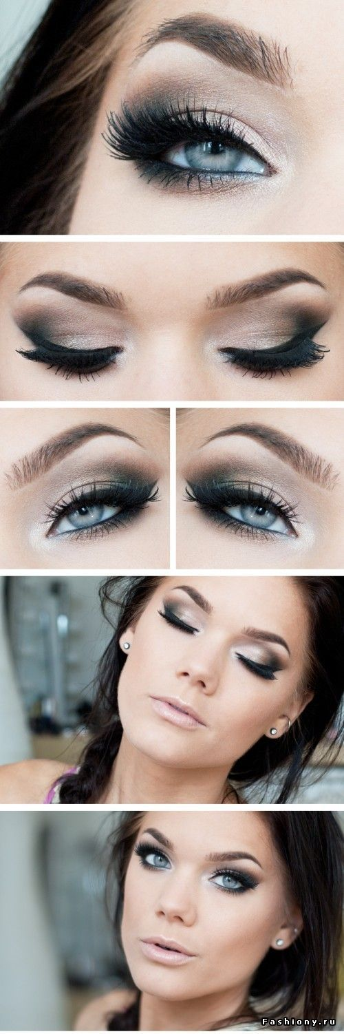 Eye Makeup Dark Smokey Eye For Blue Eyes If I Were To Match The