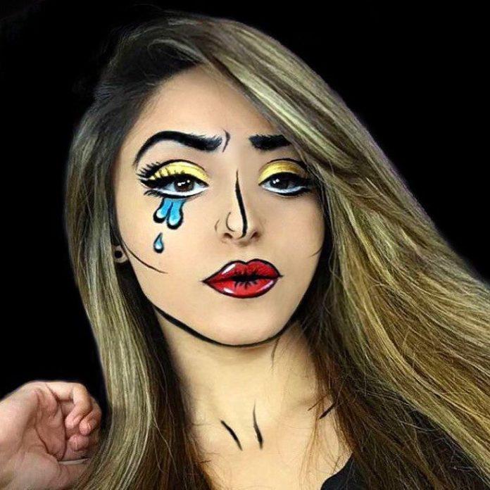 Eye Makeup : Pop-Art Halloween Makeup | POPSUGAR Beauty ...